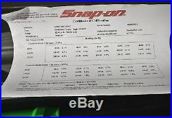 Snap on green 1/4 drive techangle torque wrench atech1f240vg 12-240 in lb MINT