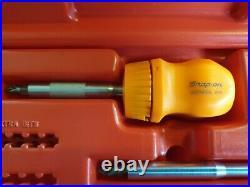 Snap on ratchet screwdriver set
