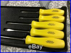Snap on tools screwdriver Set yellow with mini pic set snap-on tools yellow nice