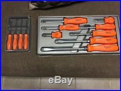 Snap on tools screwdriver set 8 pc and 4 pc mini pick set ORANGE snap-on tools