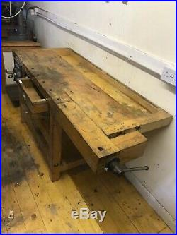 Solid Beech Heavy Duty Carpenters Work Bench Record No. 52 Quick Release Vice