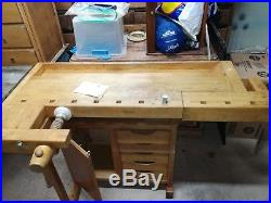 Swedish Broderna sjobergs Wood working bench with two vices