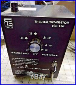 Tekoa Thermal Generator Plus 150 FOAM CUTTER/ Foam cutting machine