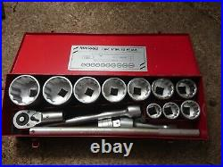 Teng Tools M1115mm 15 Piece 1 Drive Metric 12pt Socket and Accessories Set