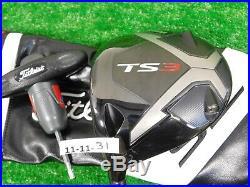 Titleist TS3 9.5 Left Hand Driver Even Flow 6.0 Stiff w HC, Tool & Standard Wt