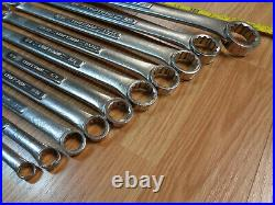 USA Made = CRAFTSMAN = 10 pc SAE INCH Double BOX END WRENCH SET Forged 1/4 1