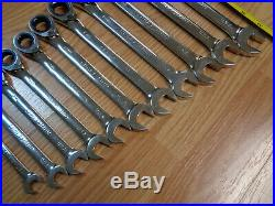 USA Made = CRAFTSMAN = 11pc. Reversible Ratcheting Wrench Set METRIC Box MM