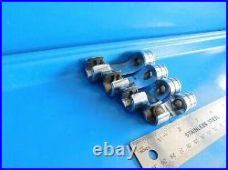 Used, Snap On Tools 3/8 In. Drive Sae Flare Nut Sockets, Lot Of 4