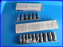 Used, Snap On Tools Metric & Sae Stud Installers, 16 Pc's