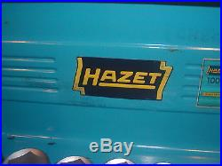 VINTAGE HAZET 16 Pc 3/4 Dr. Ratchet & 6 POINT 22-50mm Socket SET No 1000 CLEAN