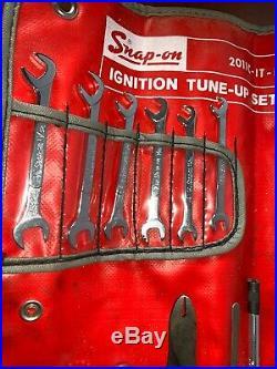 VINTAGE Snap On Tool Ignition Tune-Up Set 2011-IT-K Feeler Gauge Driver 14pcs