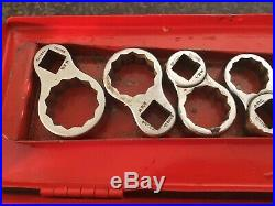 Very Rare Britool 1/2 drive A/F And WHIT ringed crowsfoot spanner set COLLECTORS