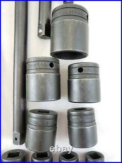 Vintage 1977-78 Snap-on Tools 1/2 Drive 20 Pc Socket Ratchet Set 3/8 to 1-1/4