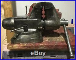 Vintage Big Vice #1760 Wilton 6 Bullet Bench Vise With Swivel Base. Made In USA