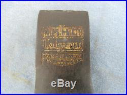 Vintage Embossed Wedgeway Hatchet Axe Head 1 lb MMH (Morley Murphy) Hand Made