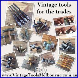 Vintage HELLSTEDT Beveled 5 X CHISEL SET SWEDEN Swedish Old Hand Tool #601
