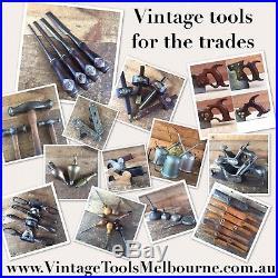 Vintage MARPLES & S&J 5 x Beveled CHISEL SET Old Antique Hand Tools #630