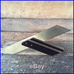 Vintage Old Hand Tool BRIDGE CITY Brass & Rosewood MS2 Miter SQUARE #68