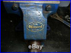 Vintage Record No 75 Engineers Vice With Swivel Base And Anvil 5 Grip Opens 5