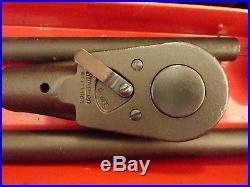 Vintage Snap-on Tools 3/4 Drive Fractional Socket Ratchet Extension Set 1989