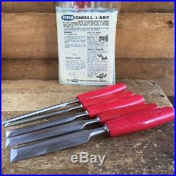 Vintage TITAN Australia SET OF 4+1 CHISELS Old Hand Tool #605