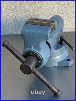 Vintage Wilton Bullet 3-1/2 Swivel Base Bench Vise Machinist Schiller Park Ill