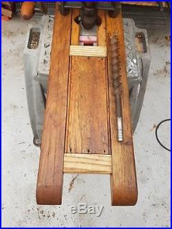 Vintage hand crank beam drill