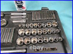 Vtg Craftsman 96 Pc Socket Set, 1/4,3/8,1/2dr, SAE, Metric, USA #CM6.25.20-DC