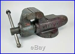 Wilton No. 400 Bullet Vise 4 Jaw non-swivel round shaft 80s vintage schiller