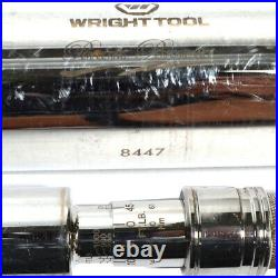 Wright Tool 8447 1-in Drive 200-1000ft. Lb. Click-Type Torque Wrench Ratchet