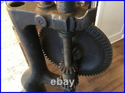YANKEE ANTIQUE No. 1005 BENCH TABLE MOUNT HAND DRILL PRESS 1914 NORTH BROTHERS BK