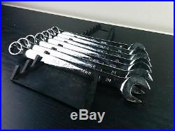 #aa080 MAC Tools Metric Knuckle Saver Combination Wrench Set USA 18-24mm